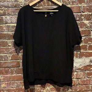 Black shirt sleeve top